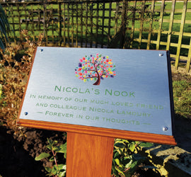 Outdoor Wooden plaque