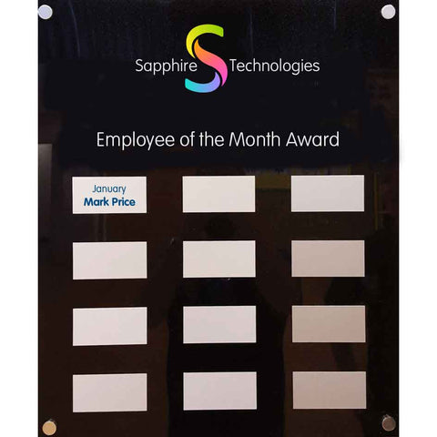 Employee of the month Awards board