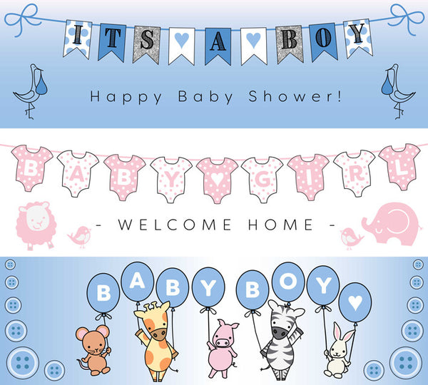 Selection of out baby vinyl banners