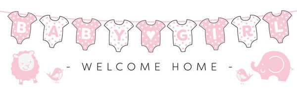 Printed baby girls banner