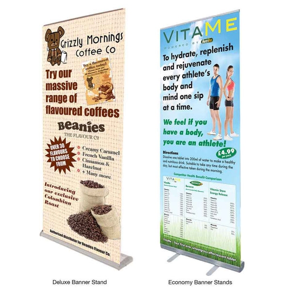 Printed banner stand range