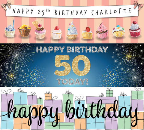 Birthday Vinyl banners selection