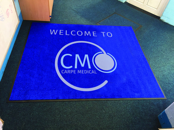 Custom Printed welcome logo mat