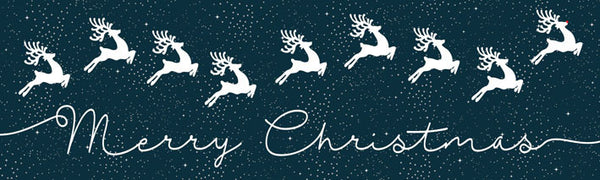 Christmas Banner Snowflake and Deer