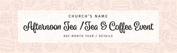 Church Tea and coffee vinyl banner Uk printed Banner