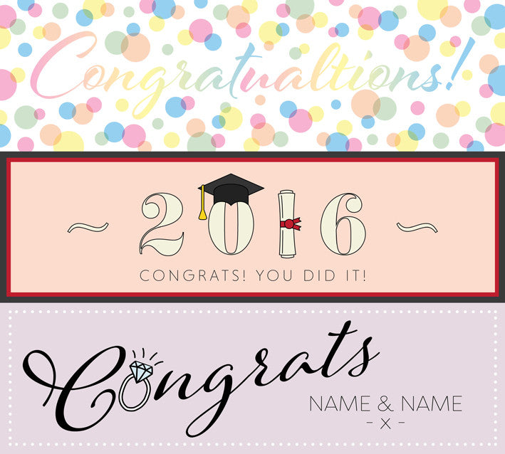 Selection of out congratulations banners Uk printed Banner