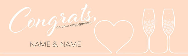 Engagement vinyl banner Uk printed Banner
