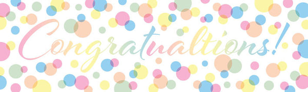 CONGRATULATIONS BANNER Uk printed Banner