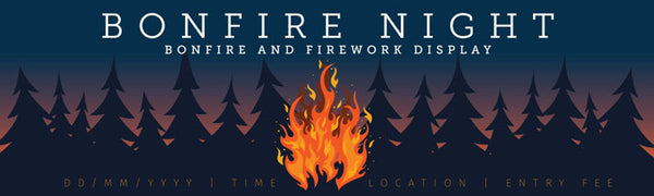 Bonfire night printed vinyl banner