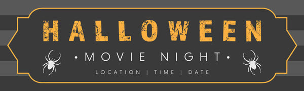 Halloween printed vinyl banner Movie Night