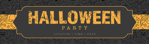 Halloween Party Printed Vinyl Banner
