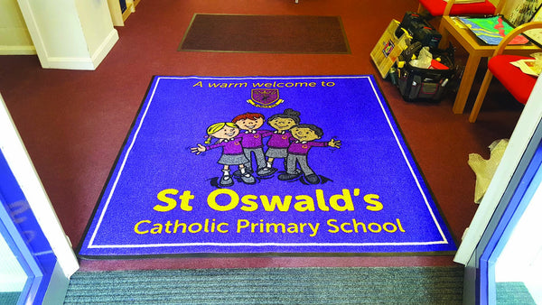 Logo Mat for businesses and schools
