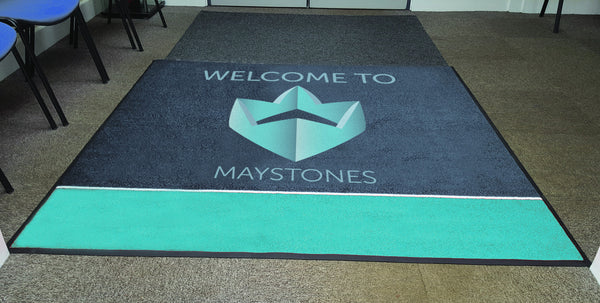 Welcome Mat printed logo UK