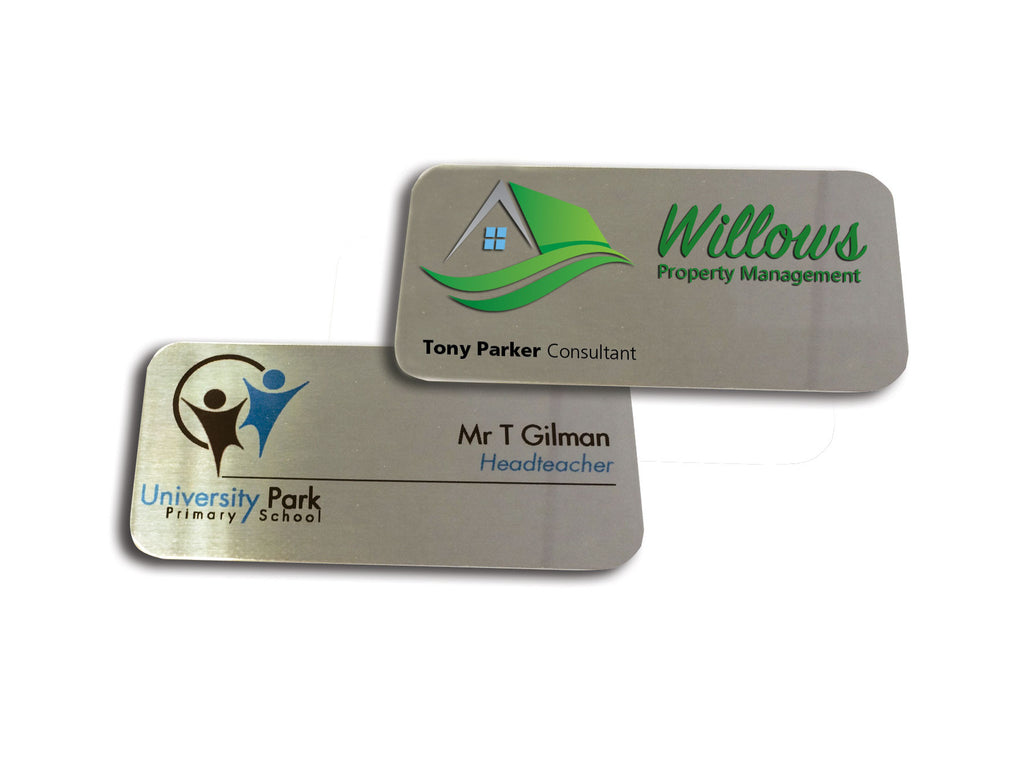 Printed Metal ID Name badge