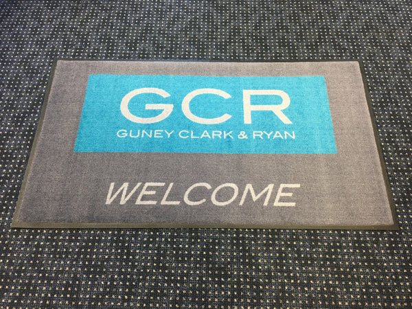 Custom Printed logo welcome mat