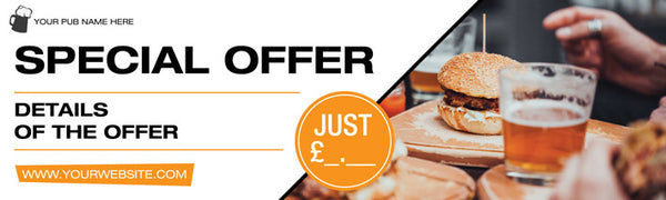 Special offer banner for business Printed Pub Banners UK