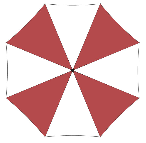 Printed Personalised Promotional Umbrella in Red