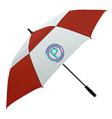 Printed personalised umbrella in red