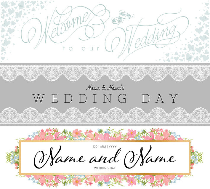 Wedding banners uk buy