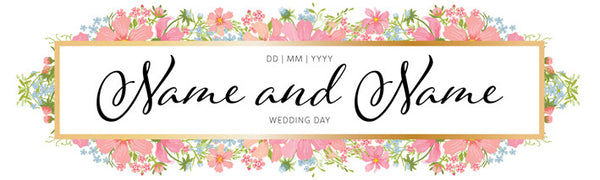 His and hers wedding banner