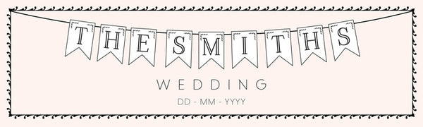 Wedding banner in pink