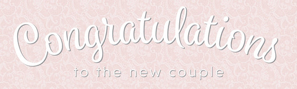 Pink wedding banner with space for your name