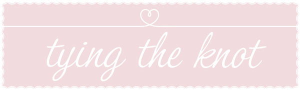 Tying the knot wedding banner