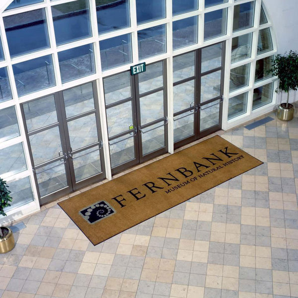 Custom printed welcome mat medium for business logo
