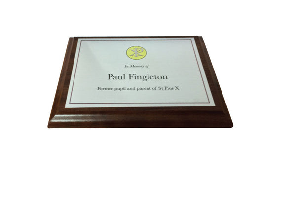 Indoor Wooden plaque