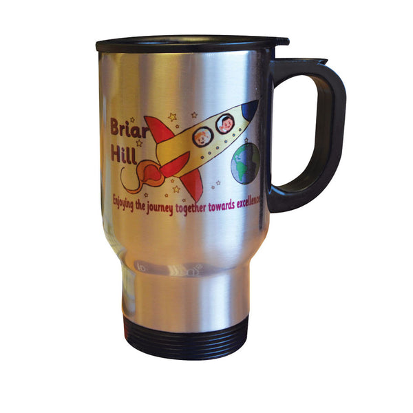 Stainless steel printed travel mug
