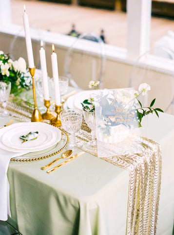 mint green tablecloth