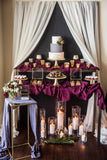 oxblood gauze table runners