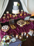 vintage wedding desert table