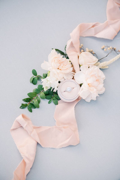 Peach Silk Ribbon