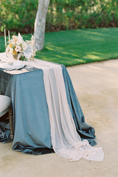 Light Pink Chiffon Table Runner - Partycrushstudio