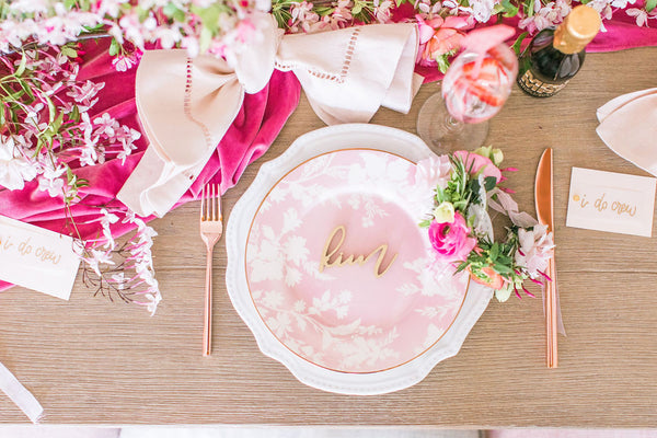 Dusty Rose Velvet Runner | Velvet Table Runner