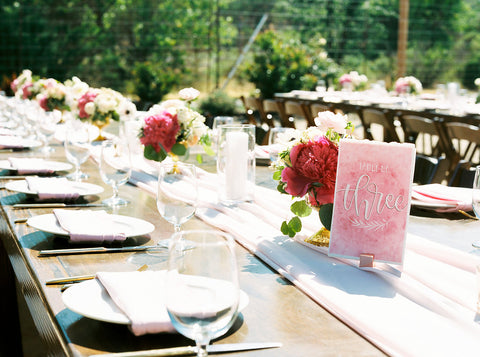 blush silk chiffon table runner - Partycrushstudio