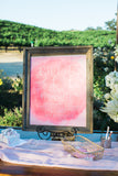 blush silk chiffon table runner