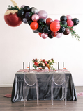 Velvet Tablecloth | Charcoal Velvet Tablecloth