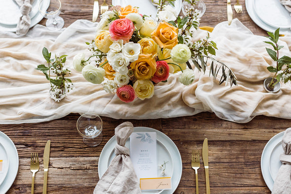 Ivory Silk Table Runner - Partycrushstudio