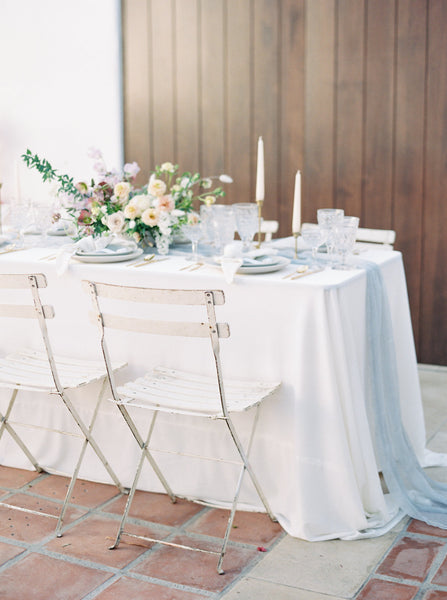 Gray Silk Table Runner