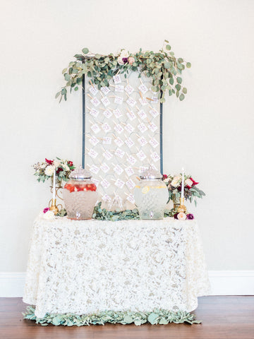 romantic table decor with specialty fine linens