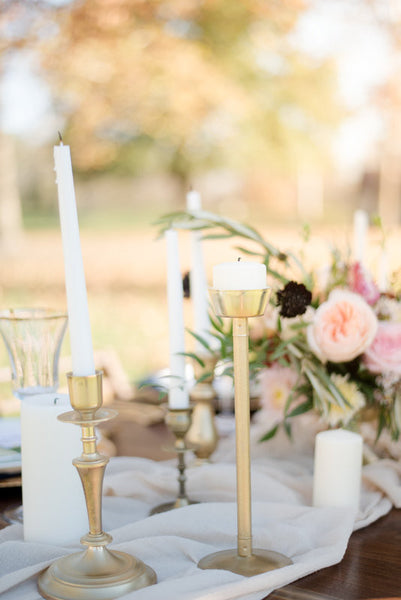 Champagne Gauze Table Runners