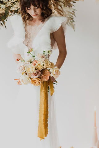 Mustard Silk Ribbon | Silk Ribbon