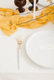 Saffron Yellow Silk Table Runner | Silk Table Runner | Silk Runner