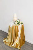 Mustard Velvet Tablecloth
