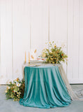 Taupe Gauze Table Runner