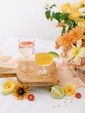 Peach Silk Chiffon Table Runner | Silk Chiffon Table Runner