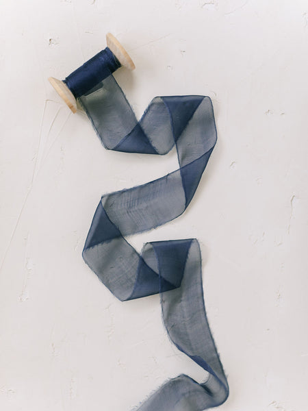 Midnight Blue Silk Ribbon | Silk Ribbon