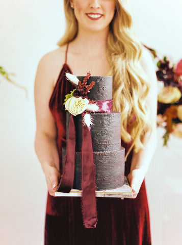 Silk Velvet Ribbon | Burgundy Silk Velvet Ribbon